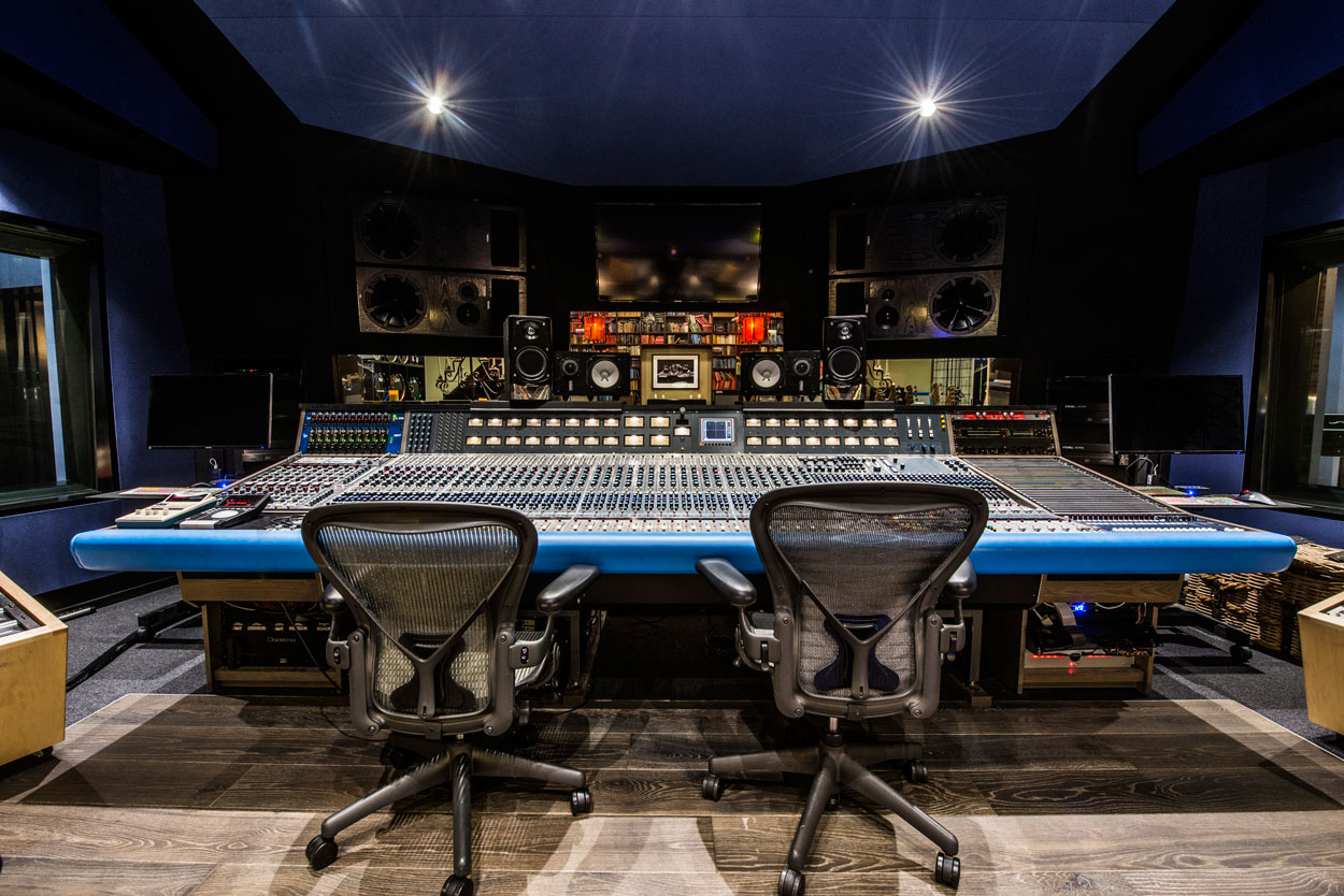 Inside Studio A featuring the Neve 8078.